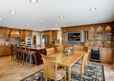 luxury kitchen and dining room